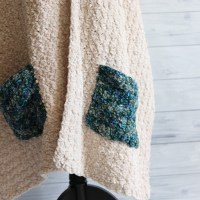 Comfort Pocket Shawl Crochet Pattern