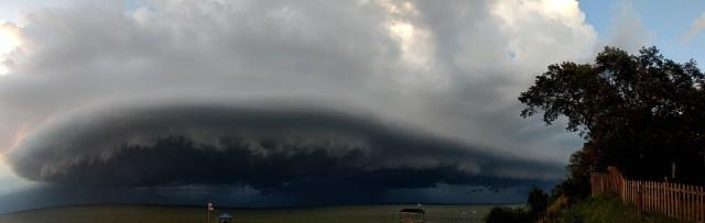 Severe Storm over Pensacola Bay
