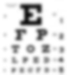 blurry eye chart last friday night