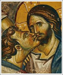 judas kissing jesus betrayal