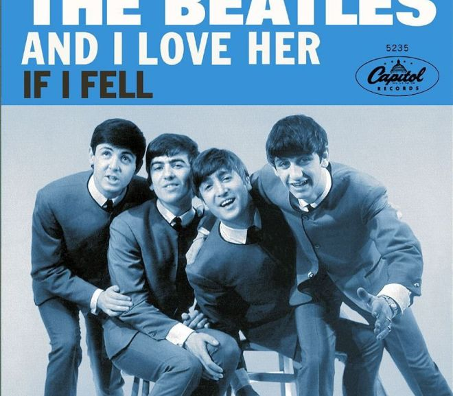 the cover of the beatles single and i love her vocabulario en inglés