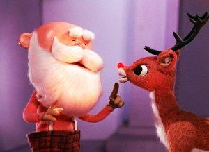 rudolph & santa reindeer