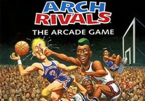 the cover of arch rivals shows one player getting punched in the face by a player from the other team