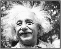 einstein happy hair
