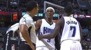 rajon rondo staring down referee bill kennedy