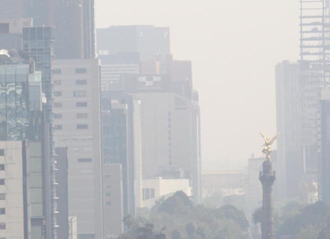 mexico city in the smog