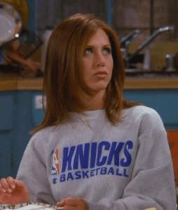 """jennifer aniston supports the ny knicks on """"friends"""""""