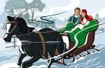 santa's sleigh & other sleighs in christmas carols