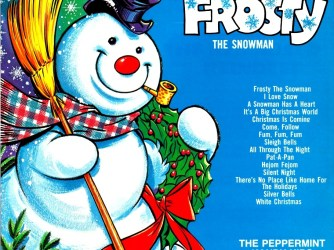 the album cover for frosty the snowman by the peppermint kandy kids