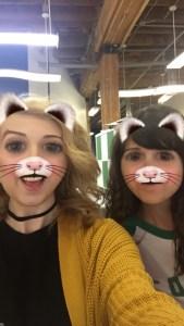 double kitten lens snapchat