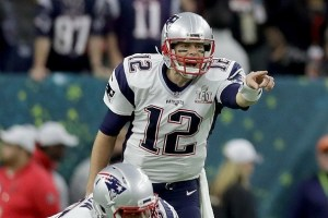 tom brady and his valuable jersey in action at super bowl 51