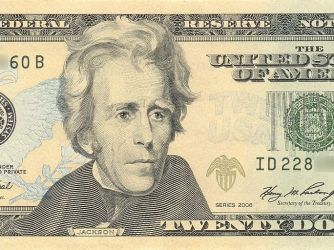 andrew jackson on the $20