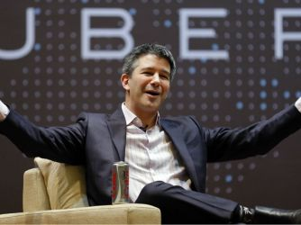 "travais kalanick in front of the word ""uber"""