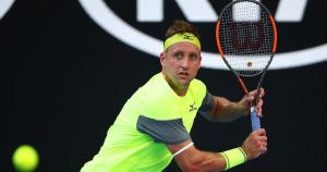 tennys sandgren playing at the australian open