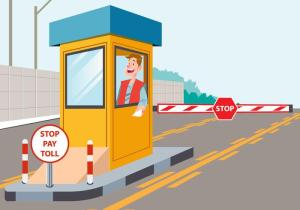 a toll booth