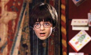 harry potter inside the cloak of invisibility