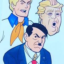 scooby doo fred reveals trump to be hitler