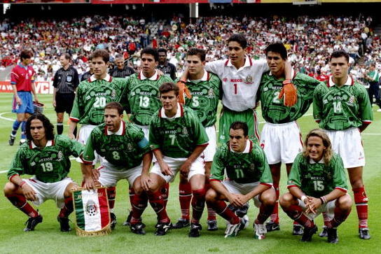 mexico starting lineup against south korea in 1998 world cup