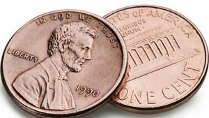two pennies (two cents)