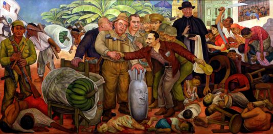 diego rivera's la gloriosa victoria depicts the 1954 guatemalan coup orchestrated by the u.s. state department and the c.i.a.