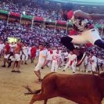 nfl star josh norman jumped over a bull in pamplona