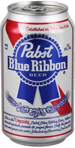 a can of pabst blue ribbon beer