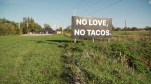 no love no tacos sign vocabulario en ingles
