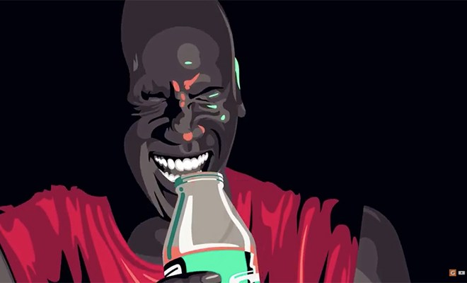 a-painting-of-micheal-jordan-drinking-gatorade-in-the-be-like-mike-commercial