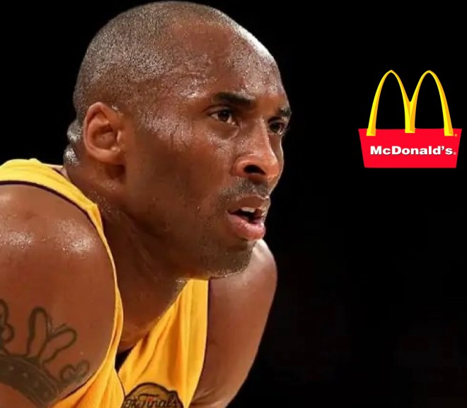 kobe bryant and the mcdonald's logo