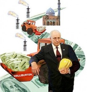 cheney halliburton wrecking ball