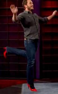 chris pratt running in heels