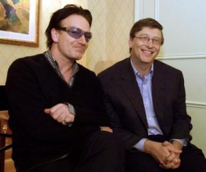 bono hobnobbing with bill gates