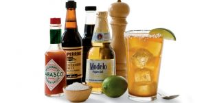 michelada ingredients including worcestershire sauce