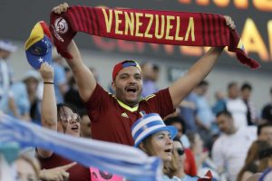 venezuela and uruguay fans at the copa america centenario