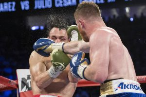 canelo punching chavez in the face