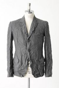 a wrinkled suit coat
