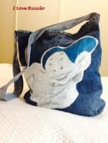 borsa jeans con nano