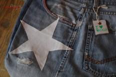 borsa denim con stella particolare