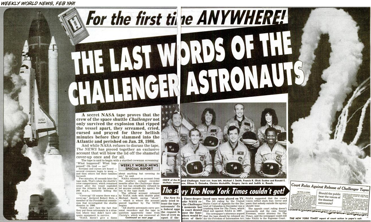 Challenger Disaster Crew Remains