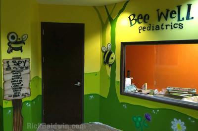 Pediatric Mural at sign-in