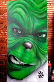 Mural of Grinch by Rick Baldwin