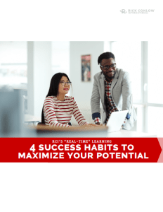 4 Success Habits to Maximize Your Potential - Rick Conlow
