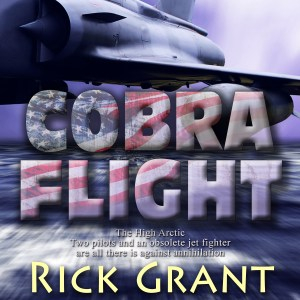 The audiobook cover for Cobra Flight