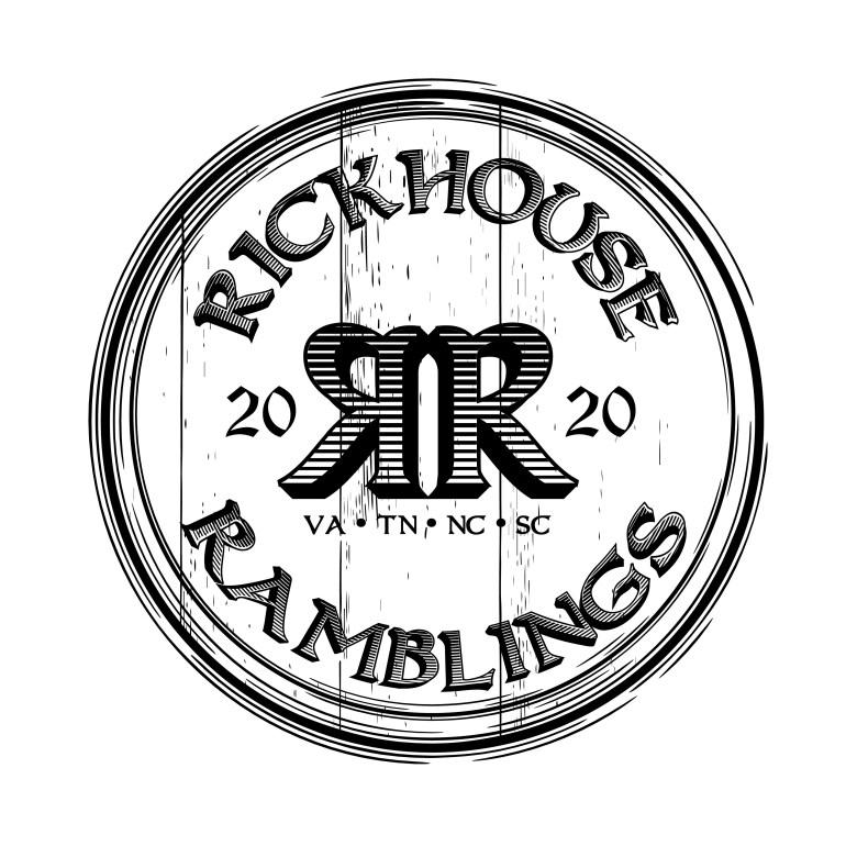 Black and White Rickhouse Ramblings Logo