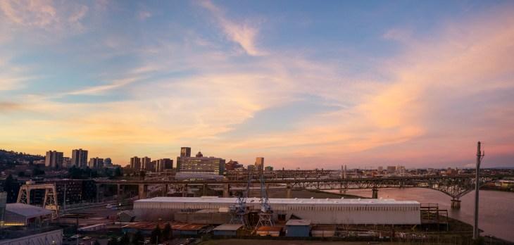 south-waterfront-sunset-panorama