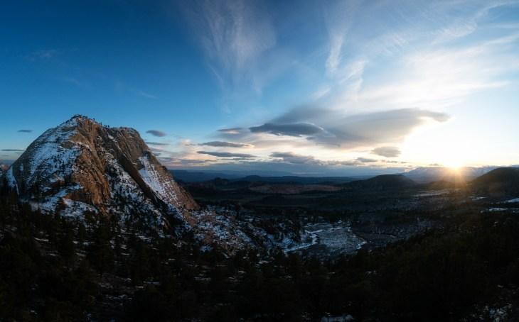 sunset, pine valley peak