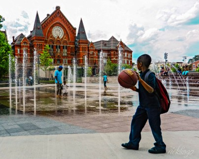 """Outside Music Hall in Washington Park, Cincinnati, Ohio. Feature photo in Capture Cincinnati weekly update. Selected for """"Creative Voices"""" magazine."""