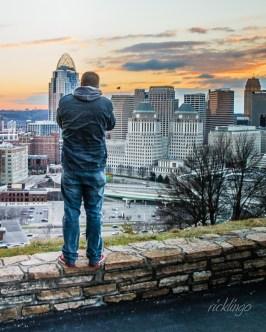 Cincinnati, Ohio, as seen from Mount Adams.