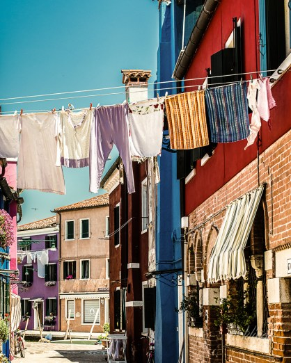 "Burano, Venice, Italy. 9th place award winner in ""Washings"" challenge at international website Pixoto."