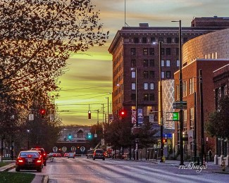 Sunset over Central Parkway